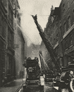 LONDON. How the London fire brigade comes to grips with its Enemy 1926 print